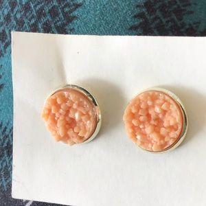 Coral Peach Stud Earrings!